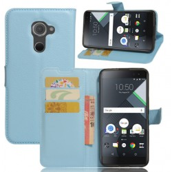 Protection Etui Portefeuille Cuir Bleu BlackBerry DTEK60