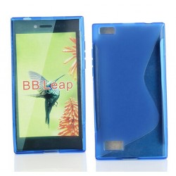 Blue Silicone Protective Case BlackBerry Leap