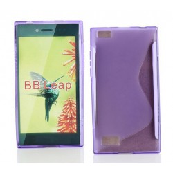 Purple Silicone Protective Case BlackBerry Leap