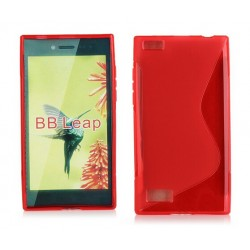 Red Silicone Protective Case BlackBerry Leap