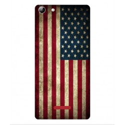 Coque Vintage America Pour Wiko Selfy 4G Rubby