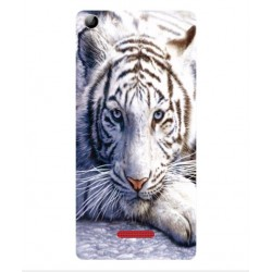 Coque Protection Tigre Blanc Pour Wiko Selfy 4G Rubby