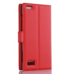 BlackBerry Leap Red Wallet Case