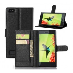 BlackBerry Leap Black Wallet Case