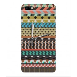 Wiko Lenny 3 Mexican Embroidery With Clock Cover