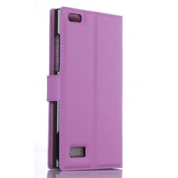BlackBerry Leap Purple Wallet Case