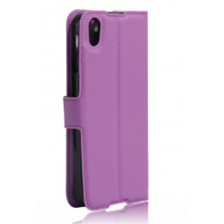 Protection Etui Portefeuille Cuir Violet BlackBerry Neon