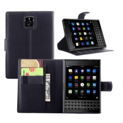 Protection Etui Portefeuille Cuir Noir Blackberry Passport