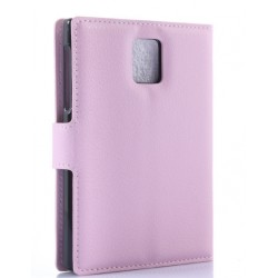 Protection Etui Portefeuille Cuir Rose Blackberry Passport