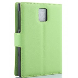 Protection Etui Portefeuille Cuir Vert arron Blackberry Passport