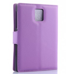 Protection Etui Portefeuille Cuir Violet Blackberry Passport