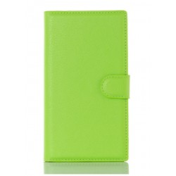 Protection Etui Portefeuille Cuir Vert BlackBerry Priv