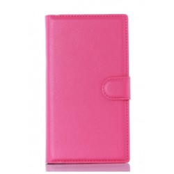 Protection Etui Portefeuille Cuir Rose BlackBerry Priv