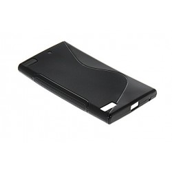 Black Silicone Protective Case Blackberry Z3