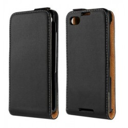 Blackberry Z3 Black Flip Leather Case