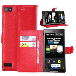 Blackberry Z3 Red Wallet Case