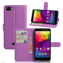 Protection Etui Portefeuille Cuir Violet BLU Life One X