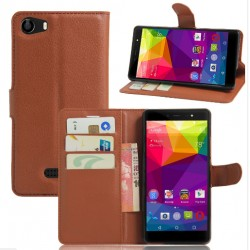 BLU Life One X Brown Wallet Case