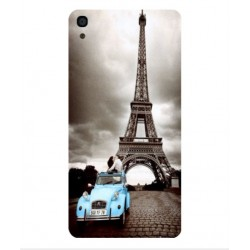 Alcatel OneTouch Idol 3 5.5 Vintage Eiffel Tower Case
