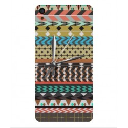 Coque Broderie Mexicaine Avec Horloge Pour Alcatel OneTouch Idol 3 5.5
