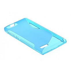 Blue Silicone Protective Case Bouygues Telecom Ultym 5