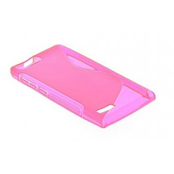 Pink Silicone Protective Case Bouygues Telecom Ultym 5
