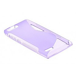 Purple Silicone Protective Case Bouygues Telecom Ultym 5