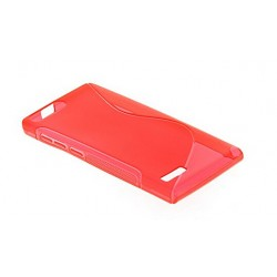 Red Silicone Protective Case Bouygues Telecom Ultym 5