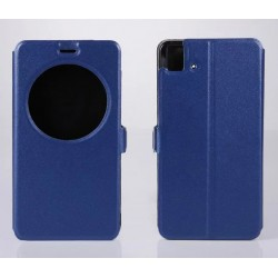 Etui Protection S-View Cover Bleu Pour BQ Aquaris E5
