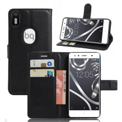 BQ Aquaris X5 Plus Black Wallet Case