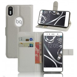 BQ Aquaris X5 Plus White Wallet Case