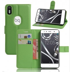 BQ Aquaris X5 Plus Green Wallet Case