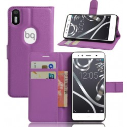 BQ Aquaris X5 Plus Purple Wallet Case