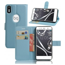 BQ Aquaris X5 Plus Blue Wallet Case