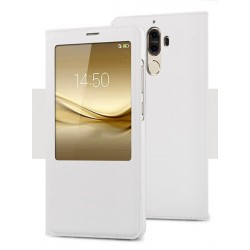 Etui Protection S-View Cover Blanc Pour Huawei Mate 9 Lite
