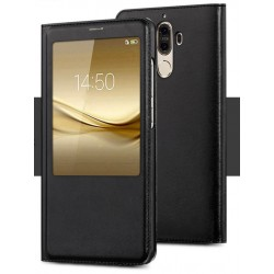 Etui Protection S-View Cover Noir Pour Huawei Mate 9 Lite