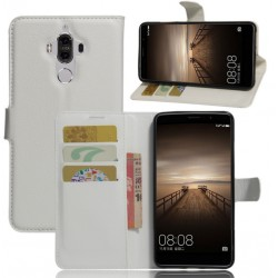 Protection Etui Portefeuille Cuir Blanc Huawei Mate 9 Lite