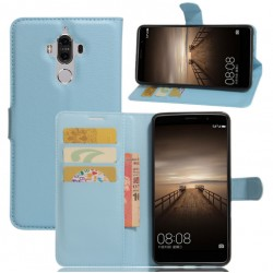 Protection Etui Portefeuille Cuir Bleu Huawei Mate 9 Lite