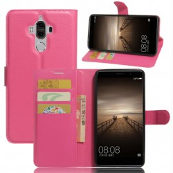 Protection Etui Portefeuille Cuir Rose Huawei Mate 9 Lite