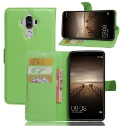Protection Etui Portefeuille Cuir Vert Huawei Mate 9 Lite