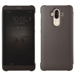 Etui Protection Led View Cover Marron Pour Huawei Mate 9