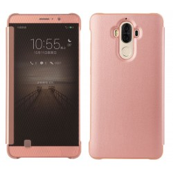Etui Protection Led View Cover Rose Pour Huawei Mate 9