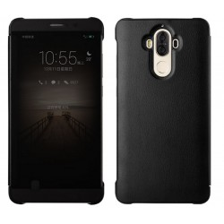 Etui Protection Led View Cover Noir Pour Huawei Mate 9