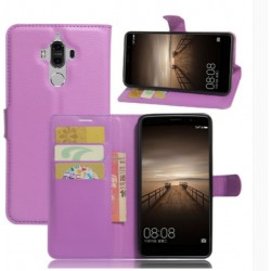 Protection Etui Portefeuille Cuir Violet Huawei Mate 9