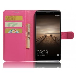 Protection Etui Portefeuille Cuir Rose Huawei Mate 9