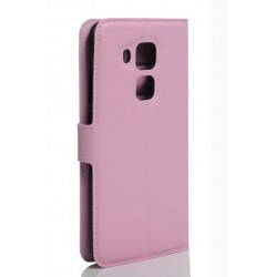 Protection Etui Portefeuille Cuir Rose Huawei Nova Plus