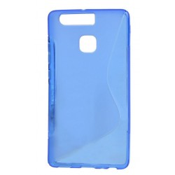 Blue Silicone Protective Case Huawei P9 Lite