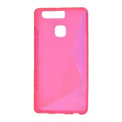 Pink Silicone Protective Case Huawei P9 Lite