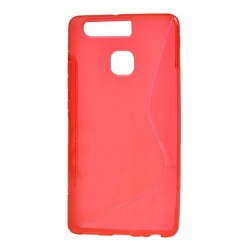 Red Silicone Protective Case Huawei P9 Lite