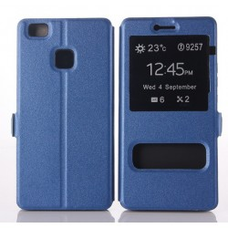 Blue S-view Flip Case For Huawei P9 Lite